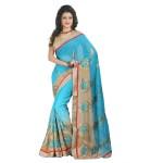 Fashionoma's Beautiful  Embroidered Half-half , Party wear Saree