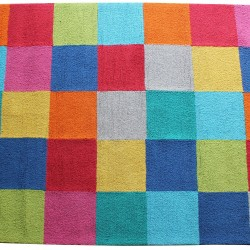 MULTI COLOR TUFTED CARPET (120 x 165 CMS)