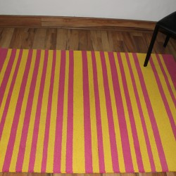 YELLOW & PINK TUFTED CARPET (120 x 165 CMS)