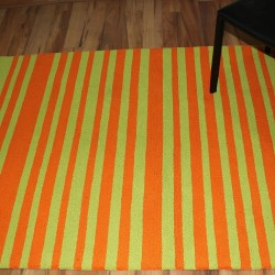 ORANGE & GREEN TUFTED CARPET (120 x 165 CMS)