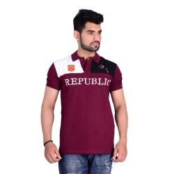 HB REPUBLIC Fancy Polo Collar Half Sleeve T- shirt