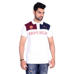 HB REPUBLIC Fancy Polo Collar Half Sleeve T- shirt 1
