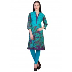 ilma Multi colored Floral Print Cotton Kurti 3