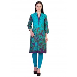 ilma Multi colored Floral Print Cotton Kurti 1