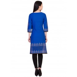 ilma Blue Printed Cambric Cotton Kurta / Kurti 4
