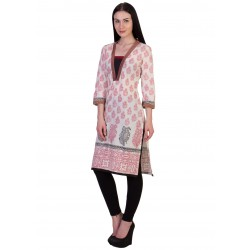 ilma Off White Printed Cambric Cotton Kurti / Kurta 2