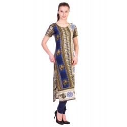 ilma Multi Colored Half Sleeve Long Rayon Kurta / Kurti 2