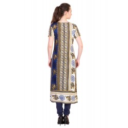 ilma Multi Colored Half Sleeve Long Rayon Kurta / Kurti 3