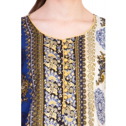 ilma Multi Colored Half Sleeve Long Rayon Kurta / Kurti 4