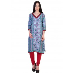 ilma Multi colored Print Cotton Kurti