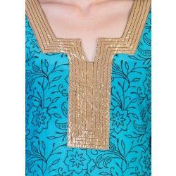 ilma Light Blue printed Cotton Kurti / Kurta 4