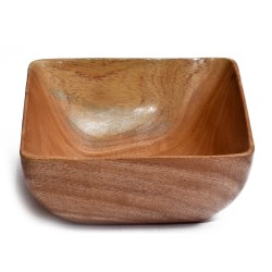 Neemwood Handcrafted Square Bowl
