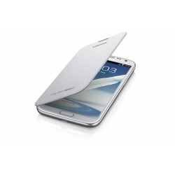 Samsung Galaxy Note 2 Flip Cover Case Marble White