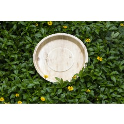 12 inch Disposable Round Areca Palm Leaf plates