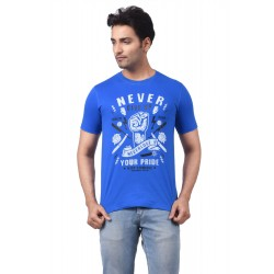 REGNUM NEVER GIVE UP ROYAL BLUE TSHIRT