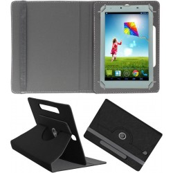 Up To 8-inch Tablets Flip Cover 360 Degree Rotation (Black)