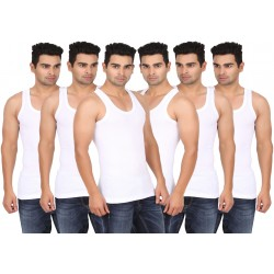 Lyril Classic White RIB Vest for men