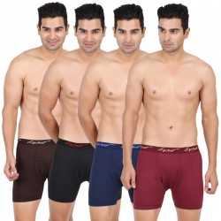 Lyril Men's American Royal Trunks -Outer Elastic- 10 PCS Pack Sizes 95-100