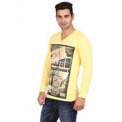 Lyril V Neck Full Sleeve Printed T-shirts 10 PCS Pack 1