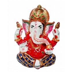 Madhuvan Metal Meenakari Hand Painting Ganesh Ji
