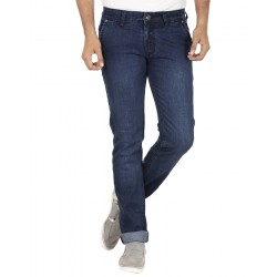 El'monde Men's Medium Waist Blue Denim Jeans Size 30-36