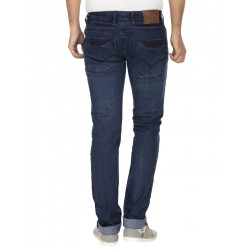 El'monde Men's Medium Waist Blue Denim Jeans Size 30-36 2