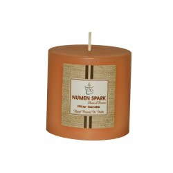 Numen Spark Vanilla Caramel Scented Pillar (3inches X 3inches)Candle With Smooth Finish (300 g)