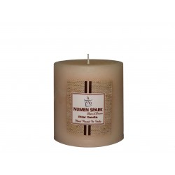 Numen Spark Vanilla Caramel Scented Rustic Pillar Candle  (3inches X 3inches) With Smooth Finish (300 g)