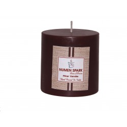 Numen Spark Choco-Holic Scented Pillar (3inches X 3inches)Candle With Smooth Finish