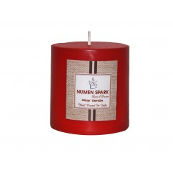 Numen Spark Amour Rose Scented Pillar (3inches X 3inches)Candle With Smooth Finish (300 g)