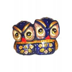 Madhuvan Metal Meenakari Showpieces Owl