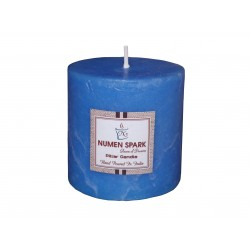 Numen Spark Ocean Blue Scented Rustic Pillar Candle  (3inches X 3inches)
