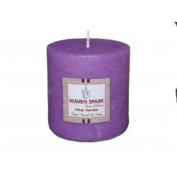 Numen Spark True Lavender Scented Rustic Pillar Candle  3inches X 3inches