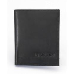 Vertical Billfold Wallet - Black