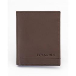 Vertical Billfold Wallet - Brown