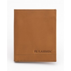 Vertical Billfold Wallet - Tan