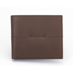 Billfold Wallet with Pass Case - Brown