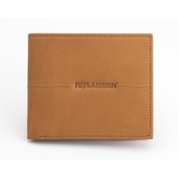 Billfold Wallet with Pass Case - Tan