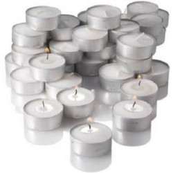 Numen Spark White Tea Light Candles (Pack of 50)