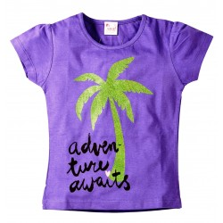 YoungOnes Coconut Tree Print Tee For Girls Sizes age 2 to 6 years