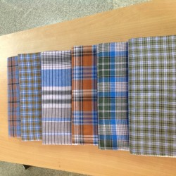 M K Cotton lungi 2Mtr small and big checked