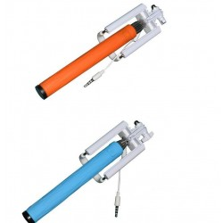 Compact Pocket Size Selifie Stick cable Take Pole for iPhone and Android