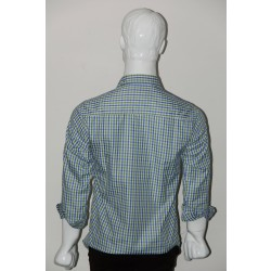 JHE Wrinkle Free Green Colour Casual Check Shirt Size 38 1