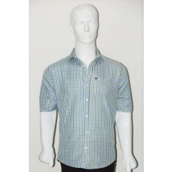 JHE Wrinkle Free Green Colour Casual Check Shirt Size 40 1