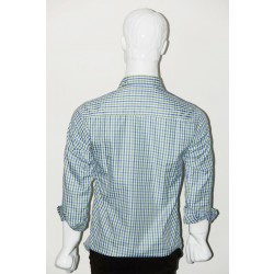 JHE Wrinkle Free Green Colour Casual Check Shirt size 46 1