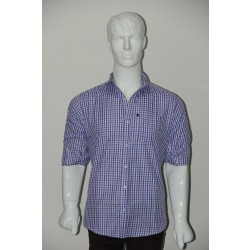JHE Wrinkle Free Sky blue Colour Casual Check Shirt Size 38 1