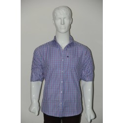JHE Wrinkle Free Sky blue Colour Casual Check Shirt Size 40