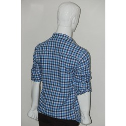 Adam Smith Cotton Sky Blue Colour Casual Check Shirt Size 42