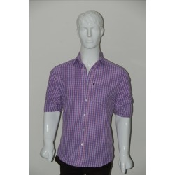 JHE Wrinkle Free Pink Colour Casual Check Shirt Size 40