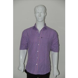JHE Wrinkle Free Pink Colour Casual Check Shirt Size 42